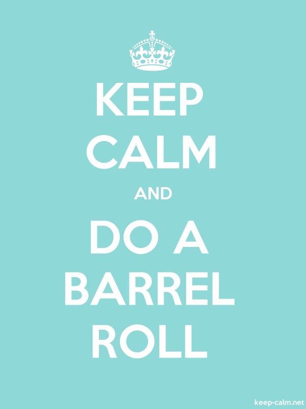 KEEP CALM AND DO A BARREL ROLL - white/lightblue - Default (600x800)