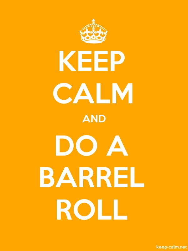 KEEP CALM AND DO A BARREL ROLL - white/orange - Default (600x800)