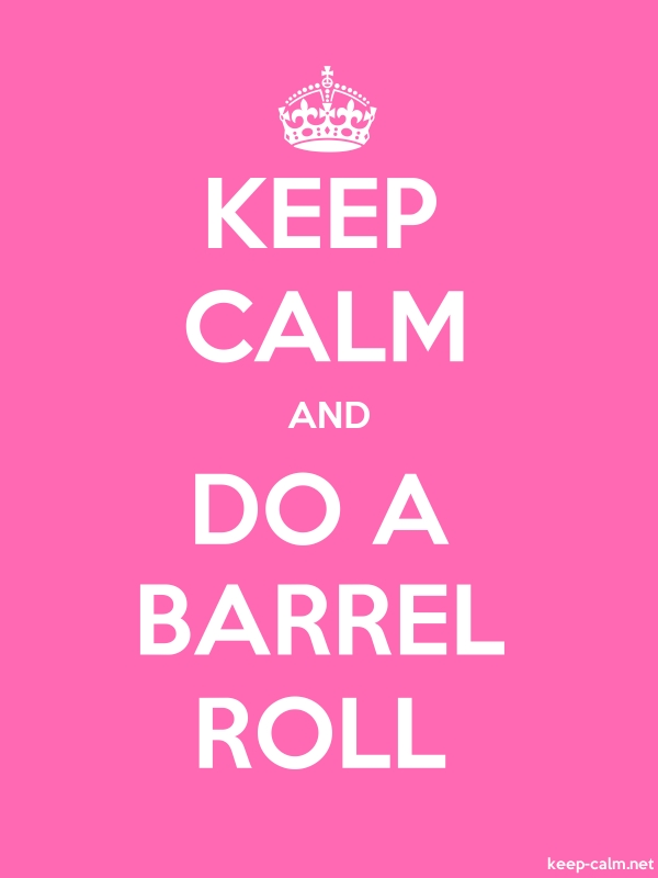 KEEP CALM AND DO A BARREL ROLL - white/pink - Default (600x800)