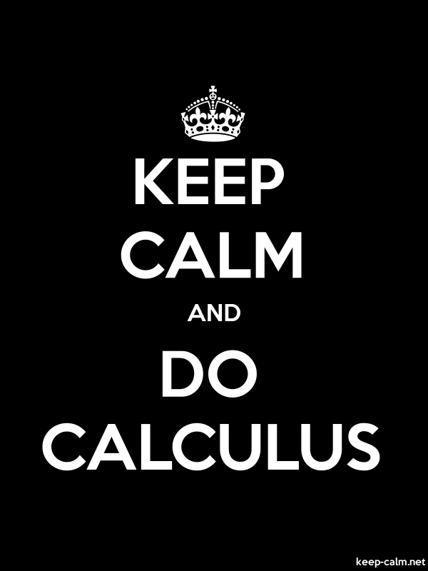 KEEP CALM AND DO CALCULUS - white/black - Default (600x800)