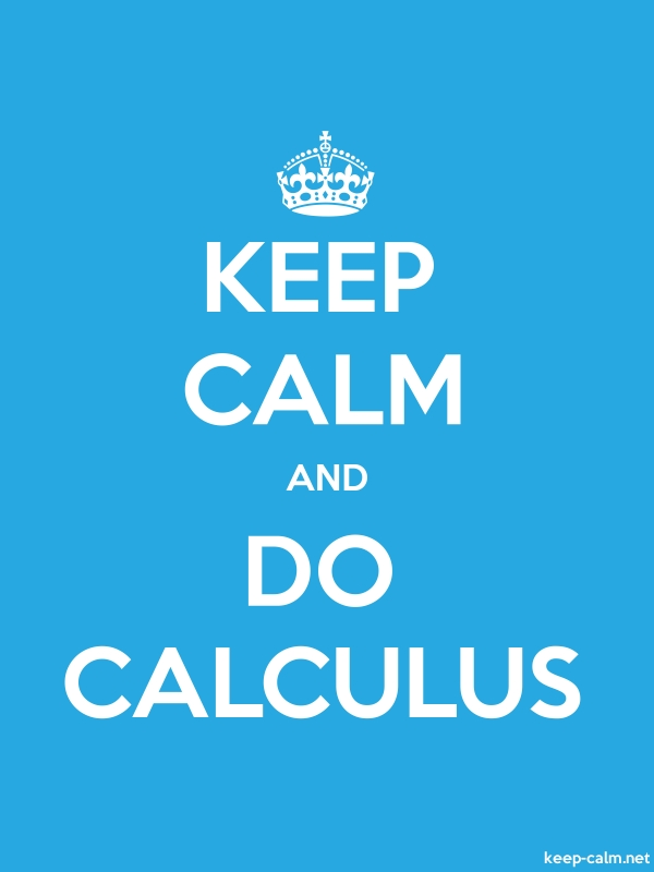 KEEP CALM AND DO CALCULUS - white/blue - Default (600x800)