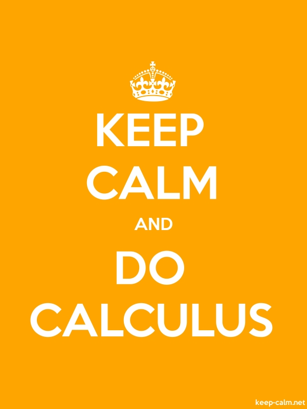 KEEP CALM AND DO CALCULUS - white/orange - Default (600x800)