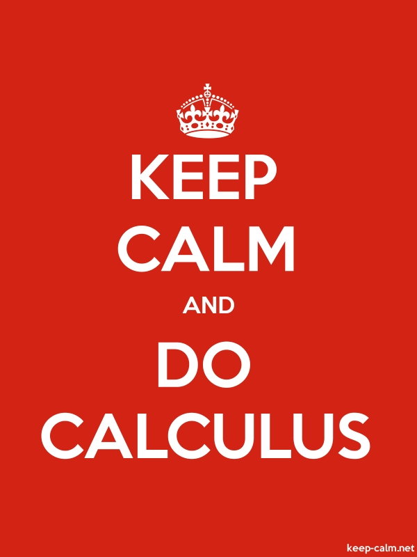 KEEP CALM AND DO CALCULUS - white/red - Default (600x800)