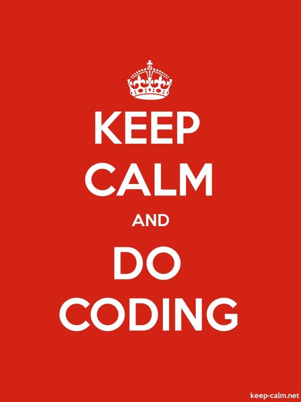 KEEP CALM AND DO CODING - white/red - Default (600x800)
