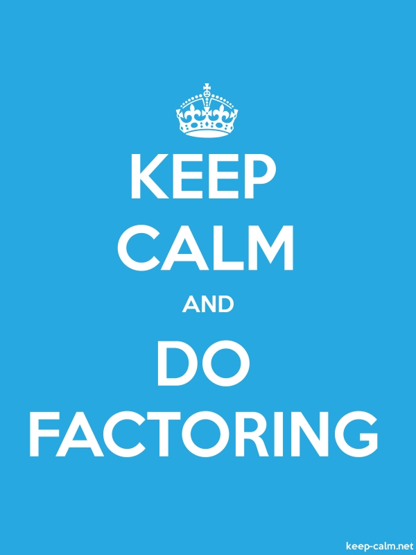 KEEP CALM AND DO FACTORING - white/blue - Default (600x800)