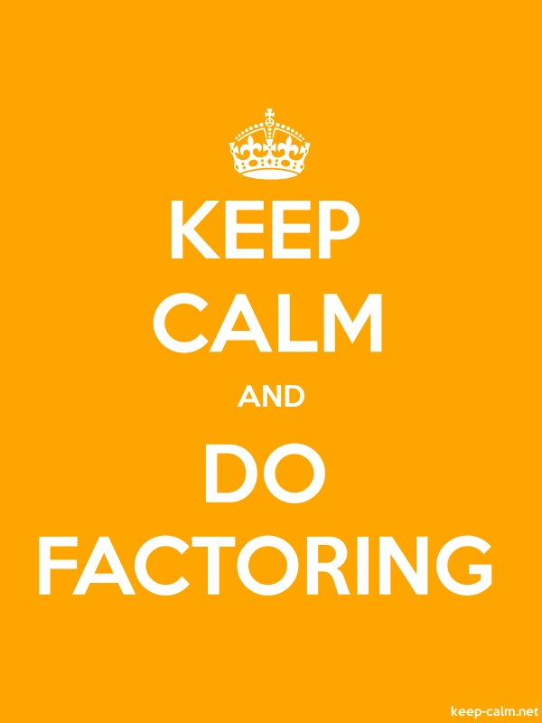 KEEP CALM AND DO FACTORING - white/orange - Default (600x800)