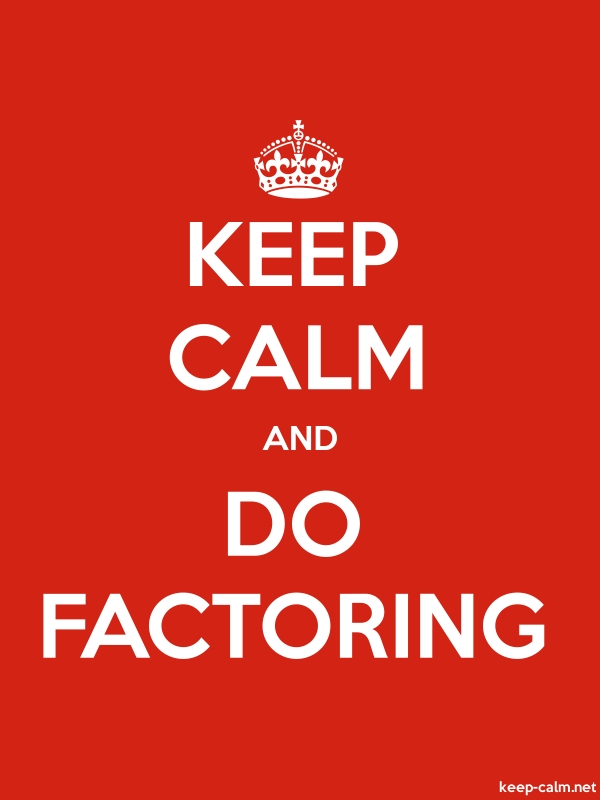 KEEP CALM AND DO FACTORING - white/red - Default (600x800)