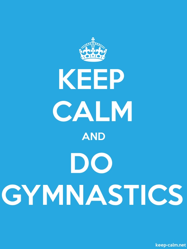 KEEP CALM AND DO GYMNASTICS - white/blue - Default (600x800)