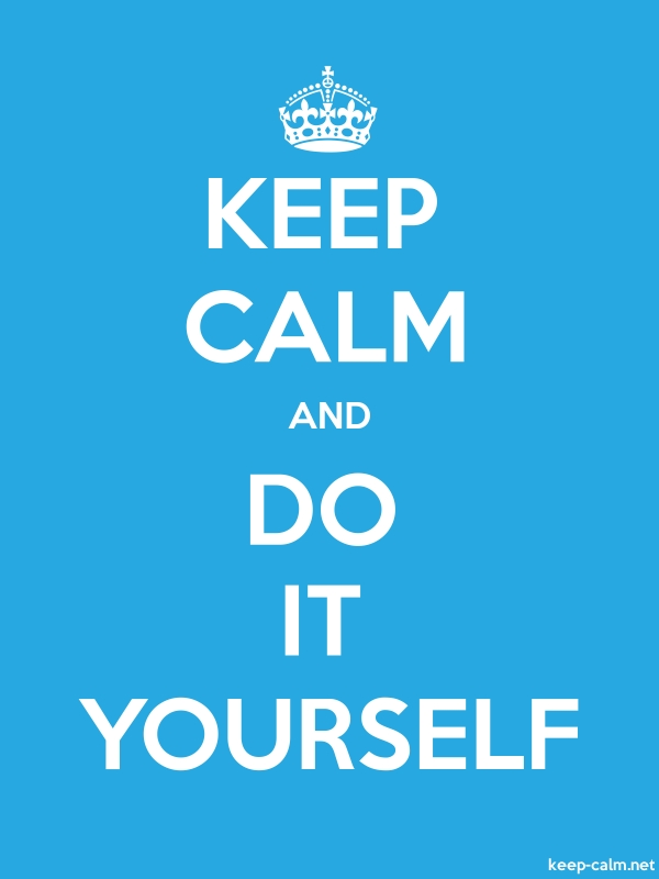 KEEP CALM AND DO IT YOURSELF - white/blue - Default (600x800)