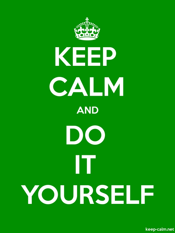 KEEP CALM AND DO IT YOURSELF - white/green - Default (600x800)