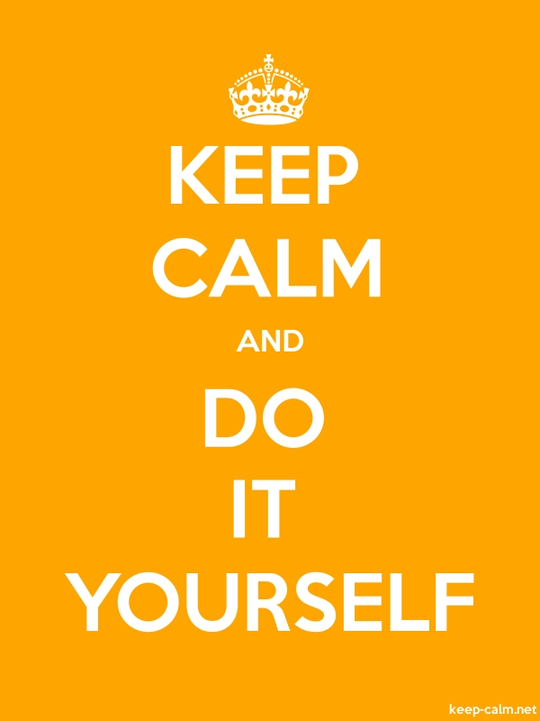 KEEP CALM AND DO IT YOURSELF - white/orange - Default (600x800)