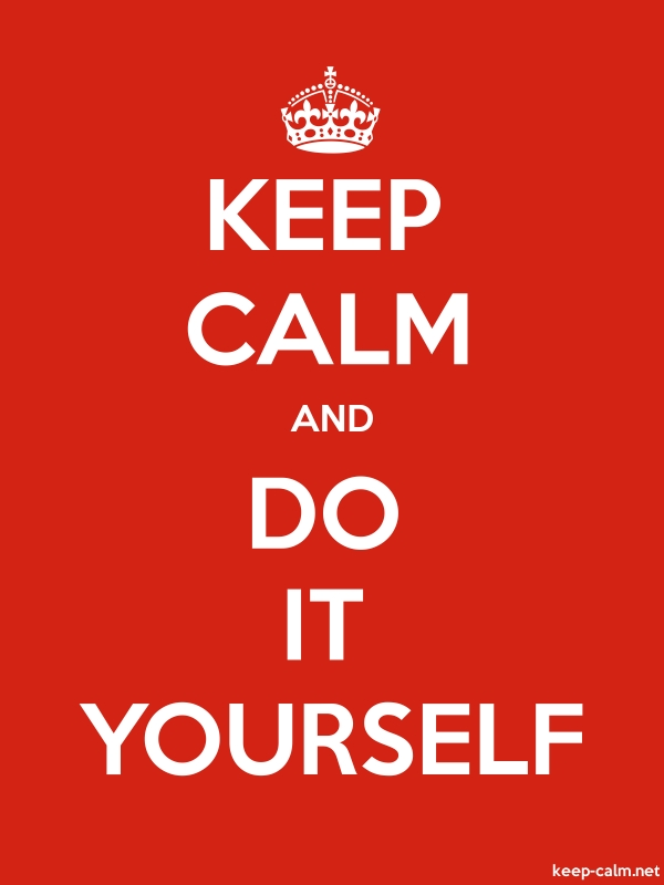 KEEP CALM AND DO IT YOURSELF - white/red - Default (600x800)