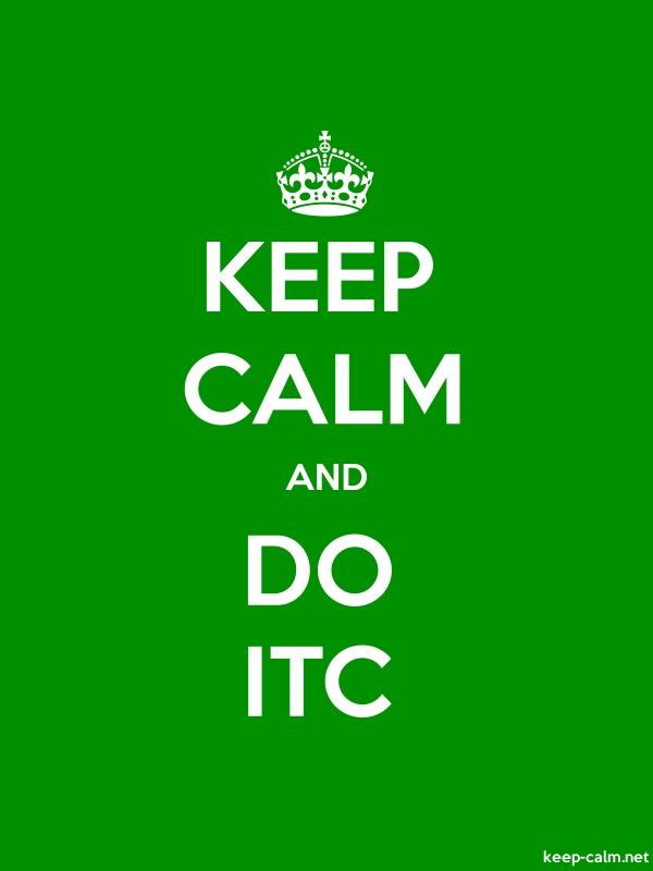 KEEP CALM AND DO ITC - white/green - Default (600x800)