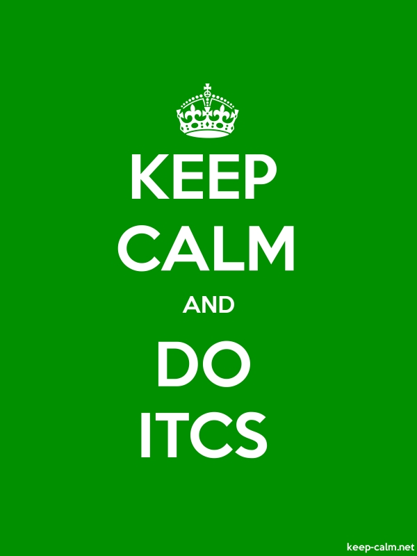 KEEP CALM AND DO ITCS - white/green - Default (600x800)