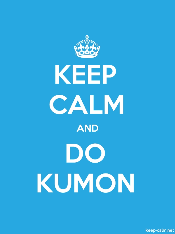 KEEP CALM AND DO KUMON - white/blue - Default (600x800)