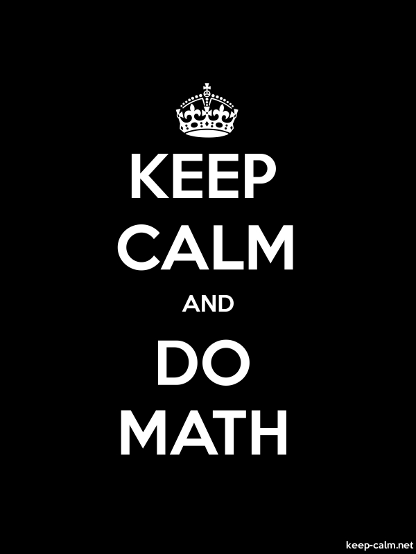 KEEP CALM AND DO MATH - white/black - Default (600x800)