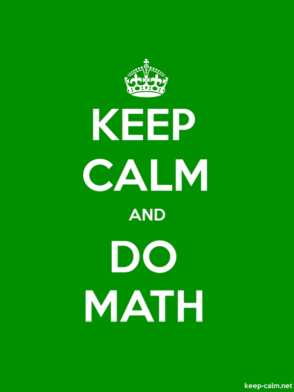 KEEP CALM AND DO MATH - white/green - Default (600x800)