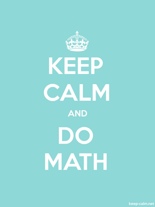 KEEP CALM AND DO MATH - white/lightblue - Default (600x800)