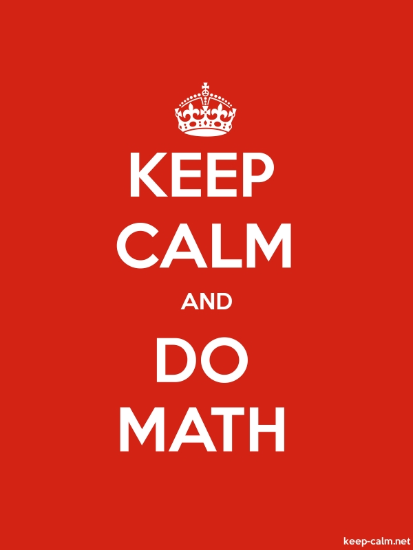 KEEP CALM AND DO MATH - white/red - Default (600x800)