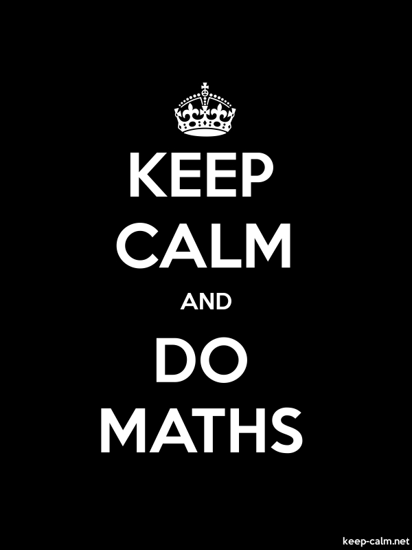 KEEP CALM AND DO MATHS - white/black - Default (600x800)