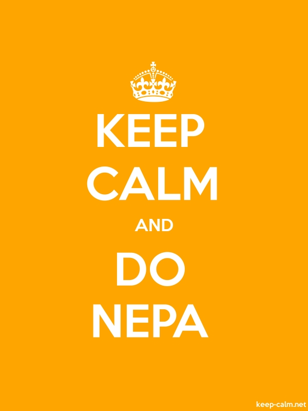 KEEP CALM AND DO NEPA - white/orange - Default (600x800)