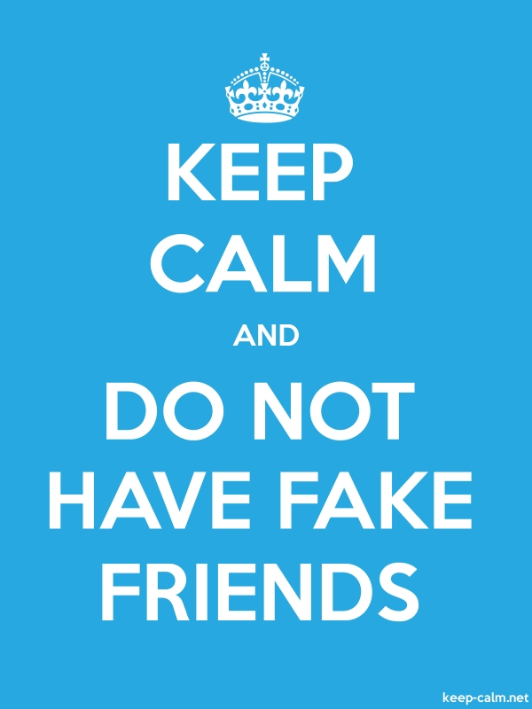 KEEP CALM AND DO NOT HAVE FAKE FRIENDS - white/blue - Default (600x800)