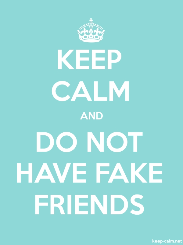 KEEP CALM AND DO NOT HAVE FAKE FRIENDS - white/lightblue - Default (600x800)