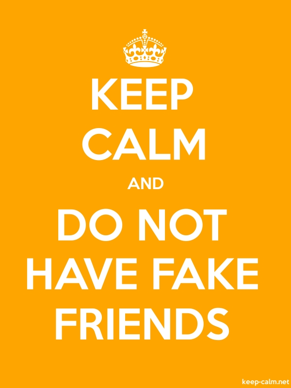 KEEP CALM AND DO NOT HAVE FAKE FRIENDS - white/orange - Default (600x800)