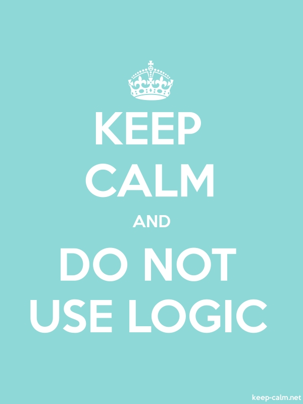 KEEP CALM AND DO NOT USE LOGIC - white/lightblue - Default (600x800)
