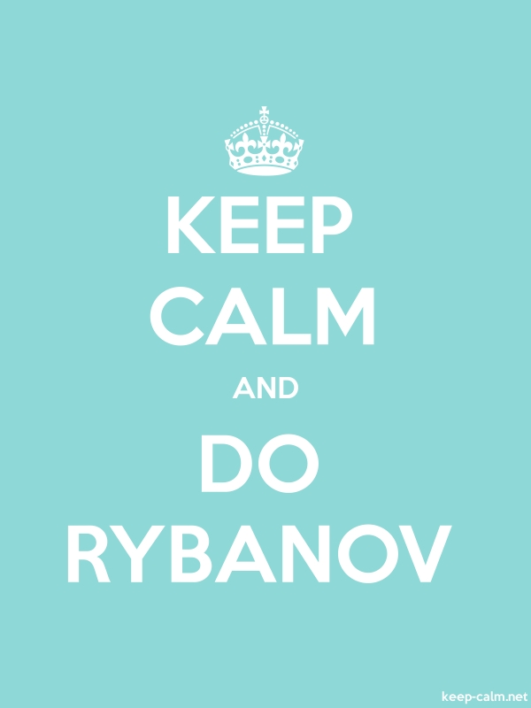 KEEP CALM AND DO RYBANOV - white/lightblue - Default (600x800)