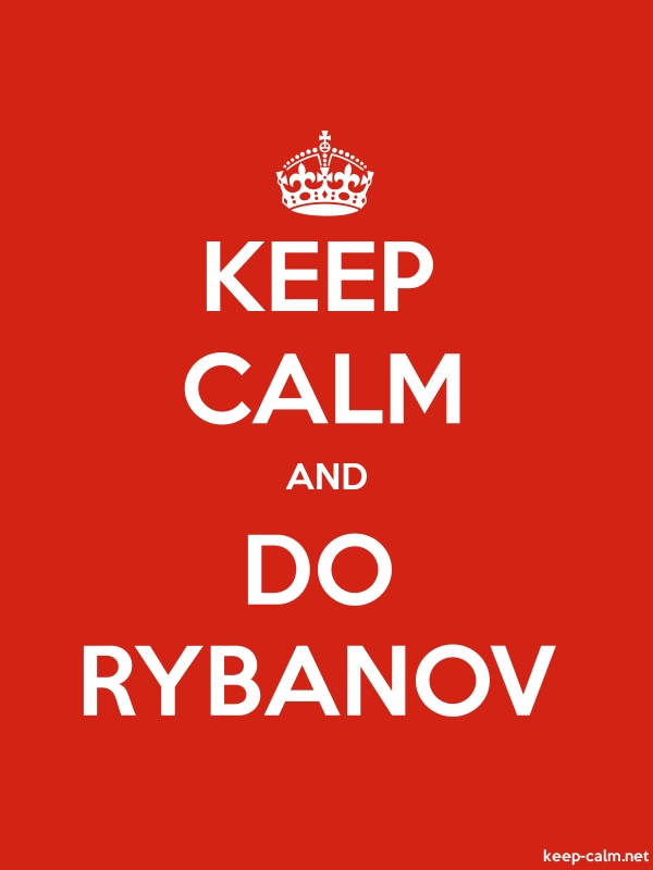 KEEP CALM AND DO RYBANOV - white/red - Default (600x800)