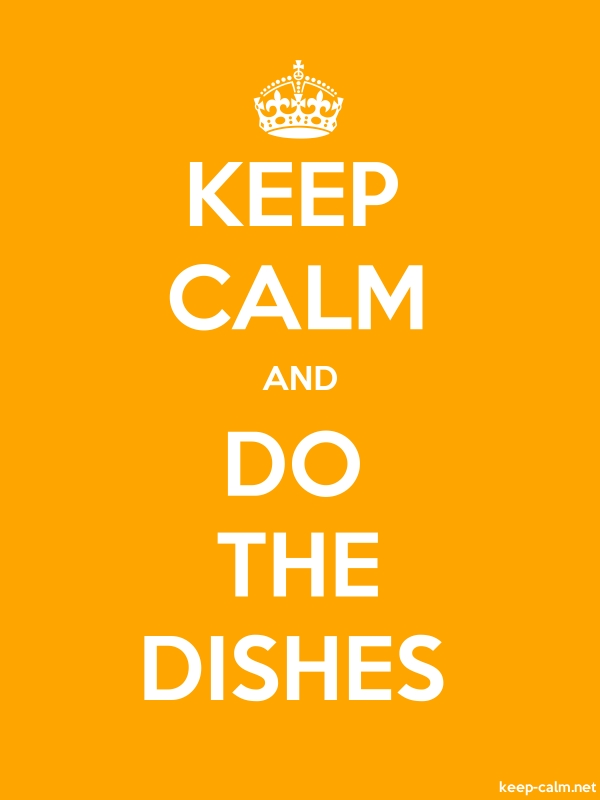 KEEP CALM AND DO THE DISHES - white/orange - Default (600x800)