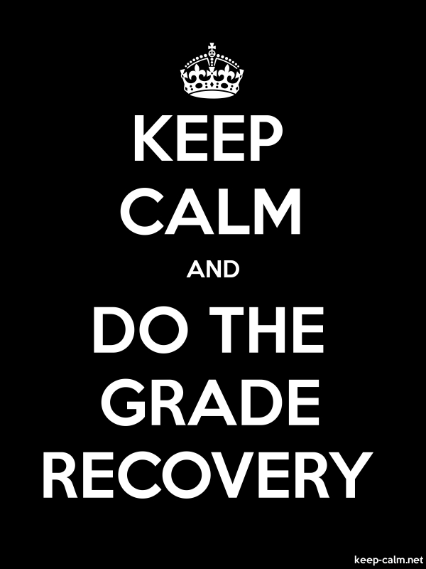 KEEP CALM AND DO THE GRADE RECOVERY - white/black - Default (600x800)