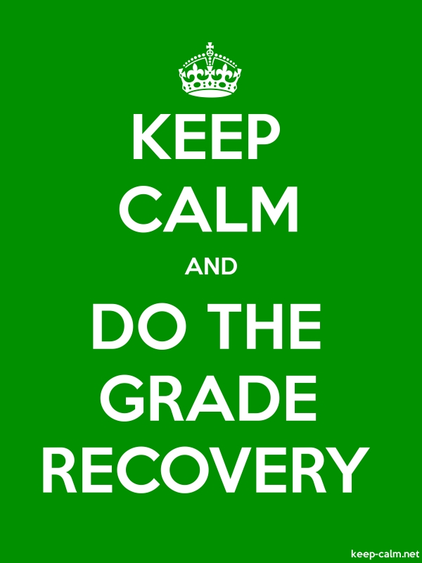 KEEP CALM AND DO THE GRADE RECOVERY - white/green - Default (600x800)