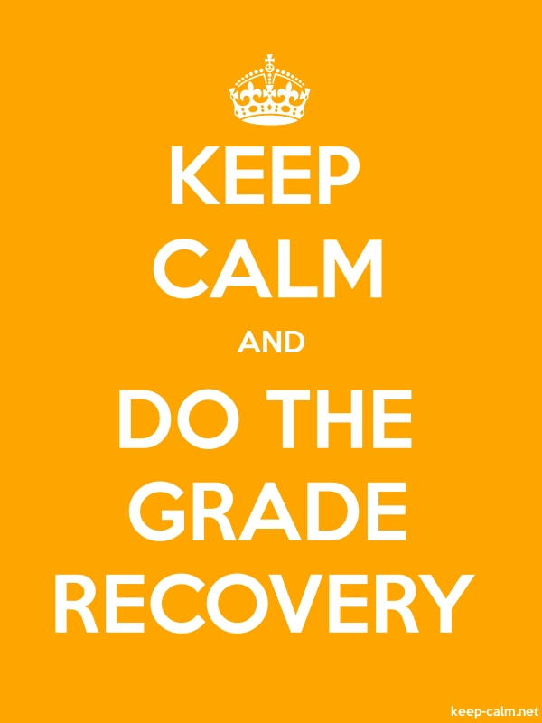 KEEP CALM AND DO THE GRADE RECOVERY - white/orange - Default (600x800)