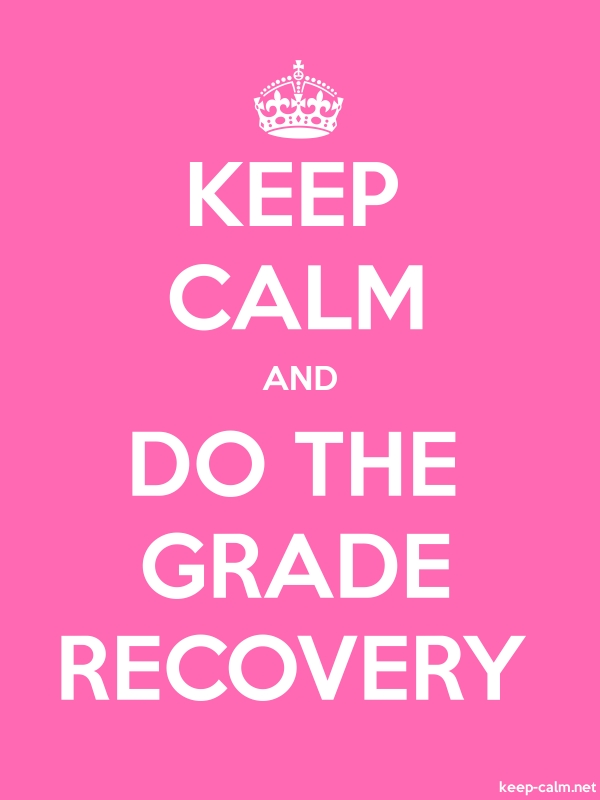 KEEP CALM AND DO THE GRADE RECOVERY - white/pink - Default (600x800)