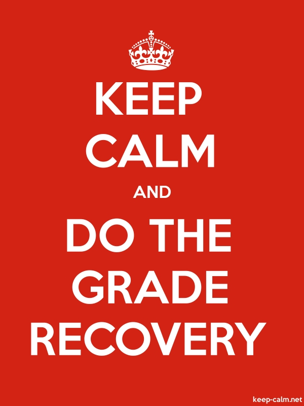 KEEP CALM AND DO THE GRADE RECOVERY - white/red - Default (600x800)