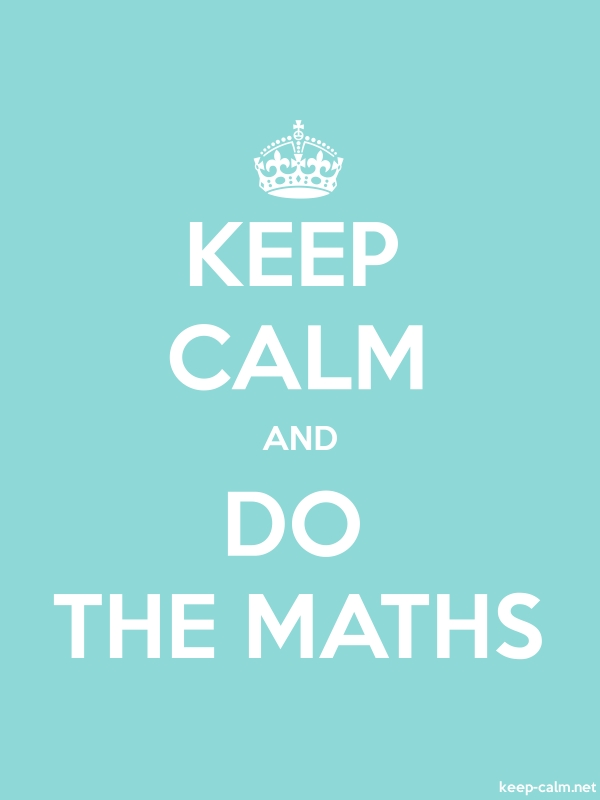 KEEP CALM AND DO THE MATHS - white/lightblue - Default (600x800)