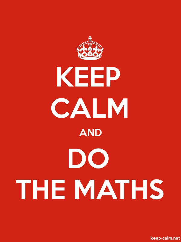 KEEP CALM AND DO THE MATHS - white/red - Default (600x800)