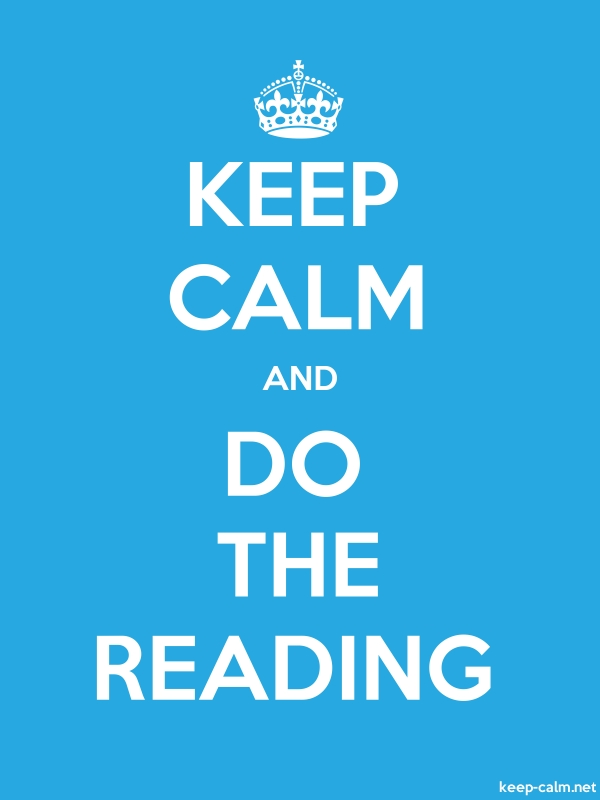KEEP CALM AND DO THE READING - white/blue - Default (600x800)
