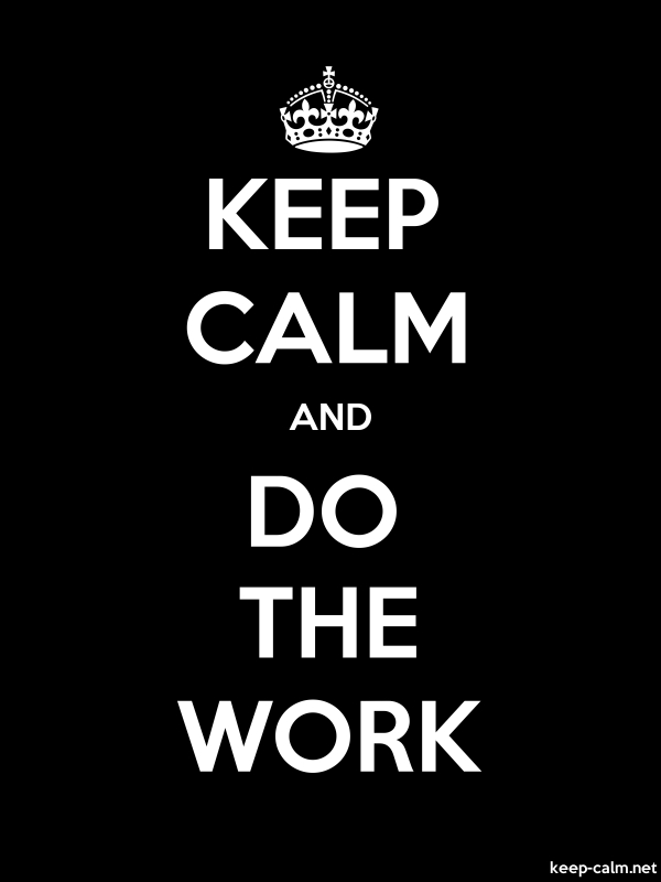 KEEP CALM AND DO THE WORK - white/black - Default (600x800)