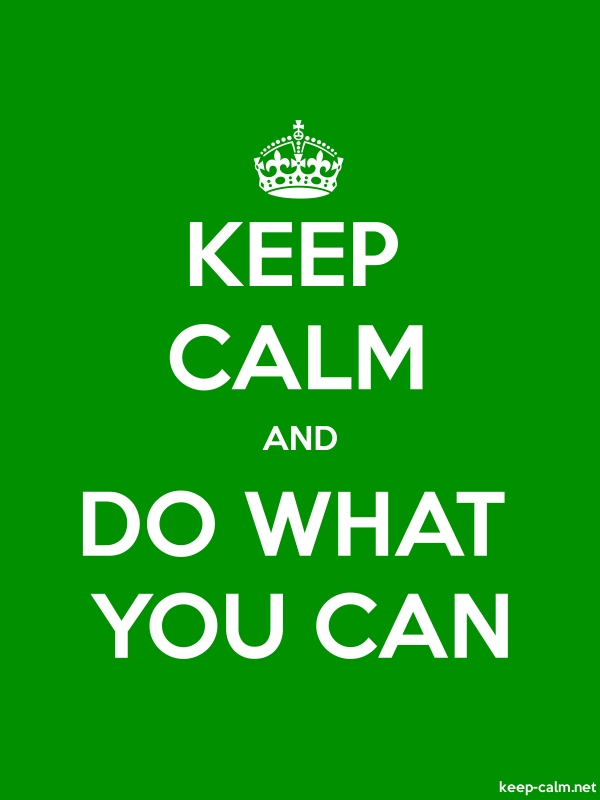 KEEP CALM AND DO WHAT YOU CAN - white/green - Default (600x800)