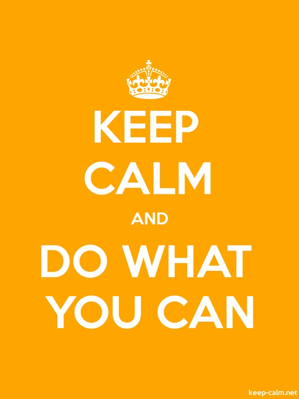 KEEP CALM AND DO WHAT YOU CAN - white/orange - Default (600x800)