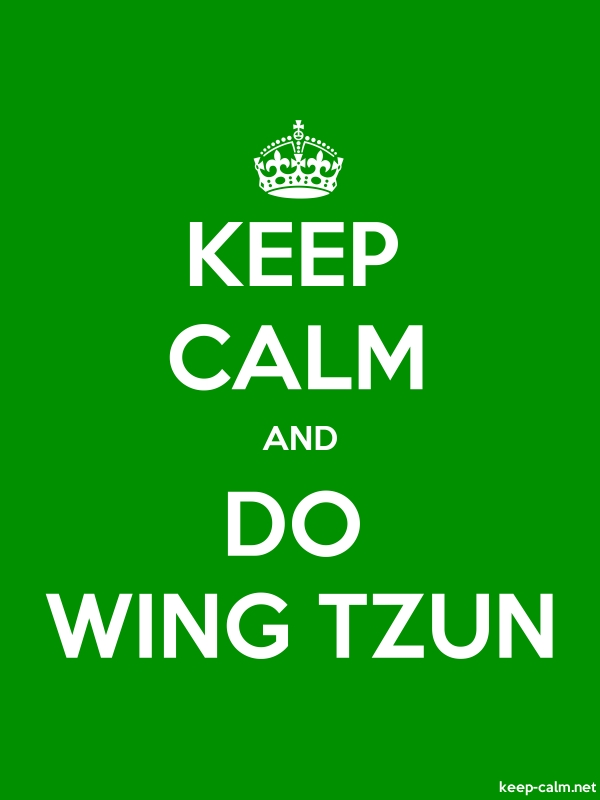 KEEP CALM AND DO WING TZUN - white/green - Default (600x800)