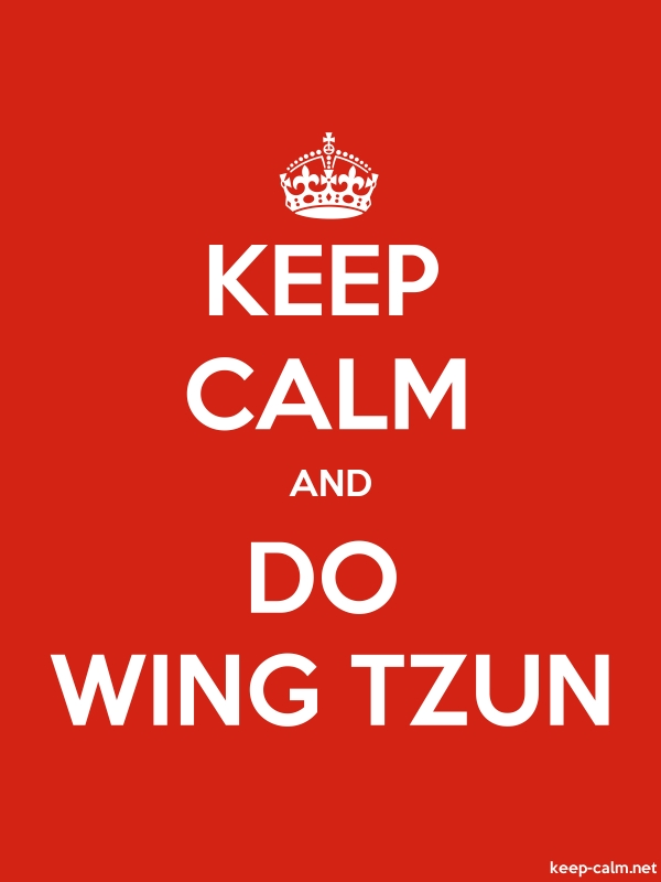 KEEP CALM AND DO WING TZUN - white/red - Default (600x800)