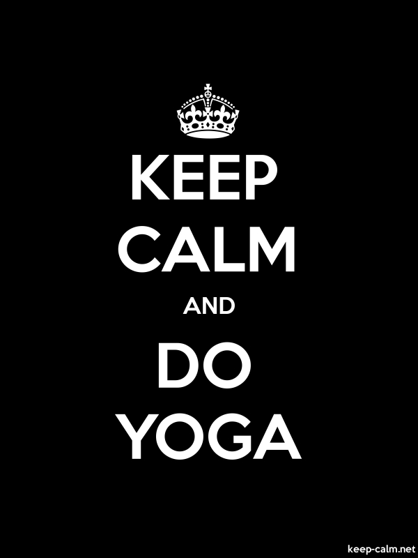 KEEP CALM AND DO YOGA - white/black - Default (600x800)