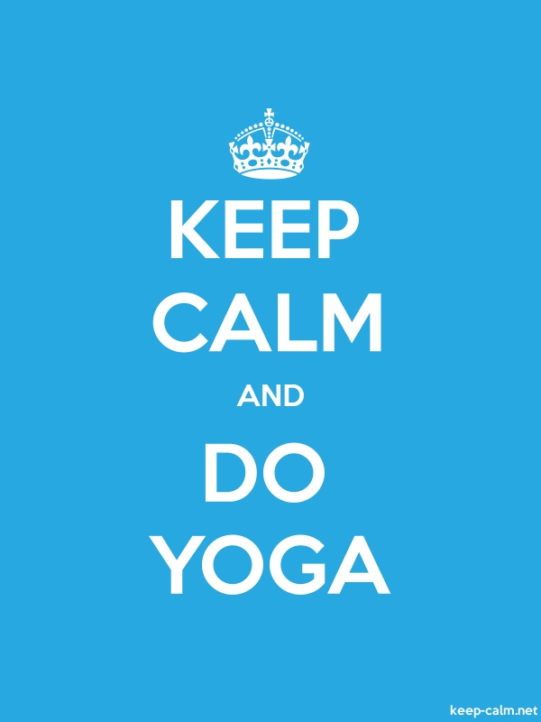 KEEP CALM AND DO YOGA - white/blue - Default (600x800)