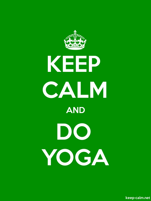 KEEP CALM AND DO YOGA - white/green - Default (600x800)