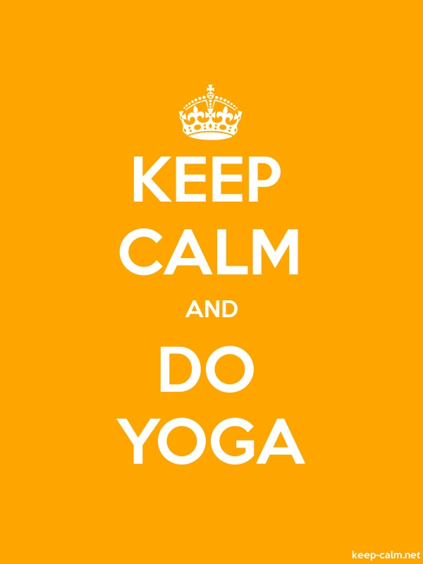 KEEP CALM AND DO YOGA - white/orange - Default (600x800)