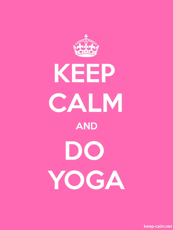 KEEP CALM AND DO YOGA - white/pink - Default (600x800)